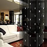 UHBGT Decorative Door String Curtain Beads Wall Panel Fringe Window Room Divider for Wedding Coffee Bedroom Restaurant