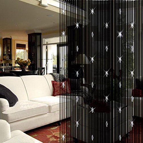 UHBGT Decorative Door String Curtain Beads Wall Panel Fringe Window Room Divider for Wedding Coffee Bedroom -