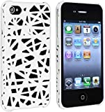 Snap-on Case compatible with Apple iPhone 4 / 4S, White Bird Nest Rear