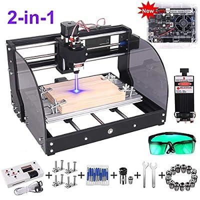 GRBL Control DIY Mini CNC Machine, Wood Router Engraver