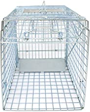 """HomGarden Humane Live Animal Cage Trap 32"""" X 12"""" X 12"""" w/Iron Door Steel Catch Release Rodent C"""