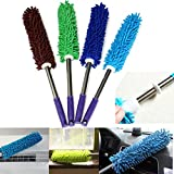 Soft Microfiber Anti Static Cleaning Feather Duster Magic Dust Cleaner Handle