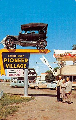 Minden Nebraska Pioneer Village Elmer Entrance Vintage Postcard K91576