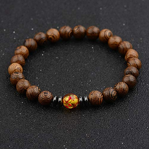 Werrox Fashion Mens Women s Natural Lava Stone Owl 8MM Beads Charm Bracelets Jewelry | Model BRCLT - 3169 | -