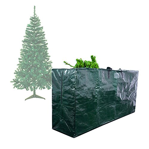 """Ecolinear Premium Everything In Storage Green Christmas Tree Bag Holiday Extra Large for up to 9' Xmas Tree 65""""x15'x30' Heavy Duty"""