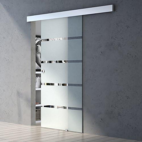 102,5x205cm Griffart Stangengriff Glasschiebet/ür Amalfi TS14-1025 vollfl/ächig Satiniert BxH
