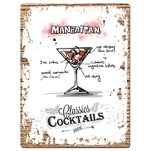 classics-cocktails-manhanttan-chic-sign-tropical-rustic-vintage-retro-kitchen-bar-pub-wall-decor-9x1