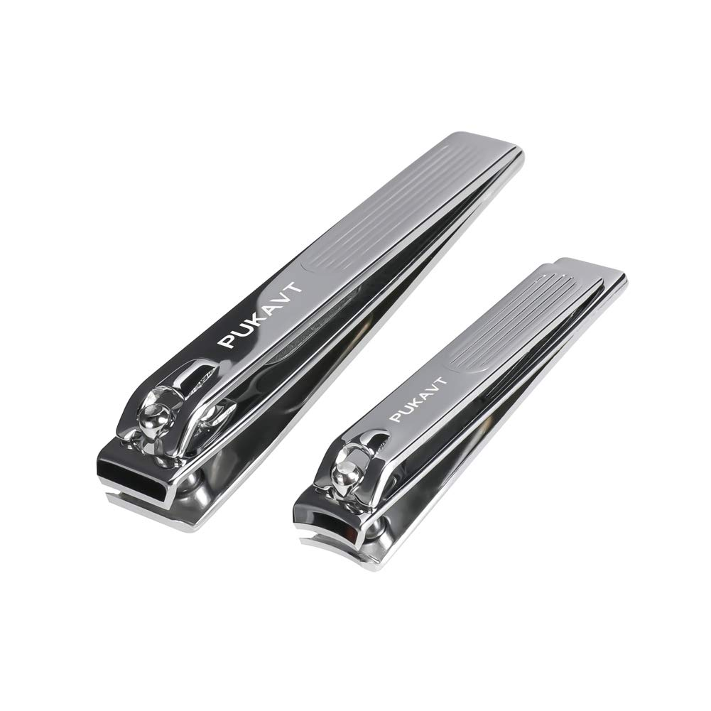 Nail Clippers Set, Fingernail & Toenail Clipper Cutter Stainless Steel Sharp and Durable Nail Cutter