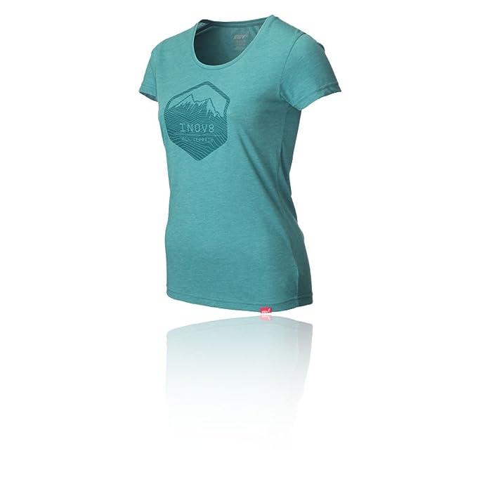 Inov8 A/C Tri Tira Camiseta de Mezcla de la Mujer Running Camiseta - AW16 - Negro -: Amazon.es: Ropa y accesorios