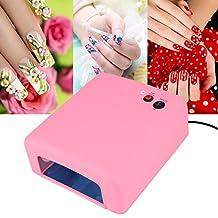 Ckeyin ® 36W UV Nail Dryer Art Gel Best Curing Light Dryer Nail Art Lamp Care Machine UV Light Nail Dryer (Pink)