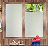 steam resistant adhesive - bofeifs Privacy Window Film No-glue Frosted Glass Film Decorative Vinly Self Static Cling with Grid on the Backing Film Sticker for Office Home Bedroom Bathroom Kitchen17.7In. X 78.7In. (45 x 200cm)