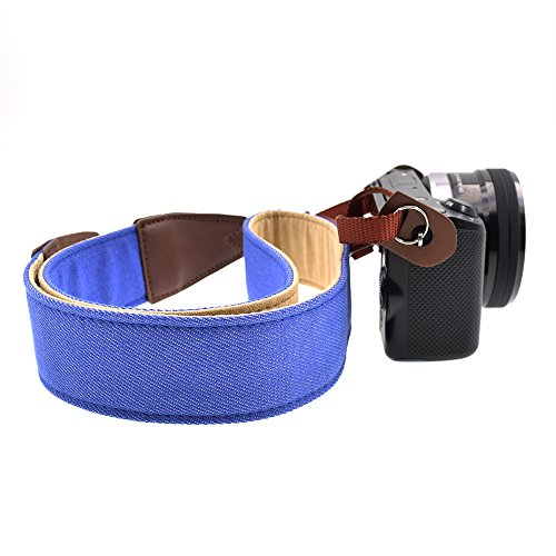 LIFEMATE Camera Strap Shoulder Neck Belt For All SLR/DSLR (Denim Blue)