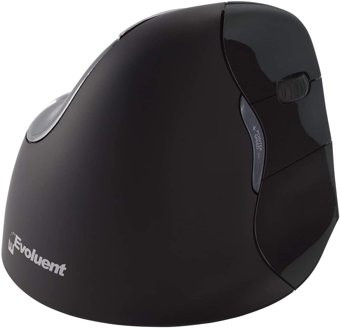 Evoluent VM4RM VerticalMouse 4 Right Hand Ergonomic Mouse with Bluetooth Connection for Mac OS (Regular Size)