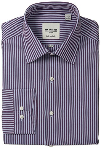 Ben-Sherman-Mens-Slim-Fit-Bengal-Stripe-Spread-Collar-Dress-Shirt
