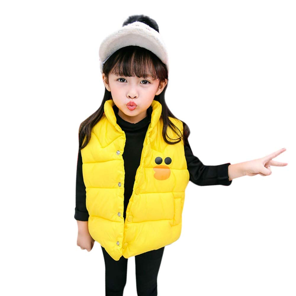 fb1165d62d9 LANSKIRT  Vetement Denfant Vetement bébé Automne et Hiver Chaud Coton Gilet  Manteau Vêtements sans Manches pour Enfants ...