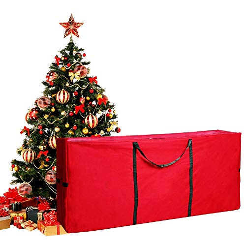 MUSTFIT Christmas Tree Storage Bag with Durable Handles and Sleek Dual Zipper, Super Durable 600D Oxford Canvas, Fits Up to 9ft, Extra Large Containers Dimensions 65 x 30 x 15
