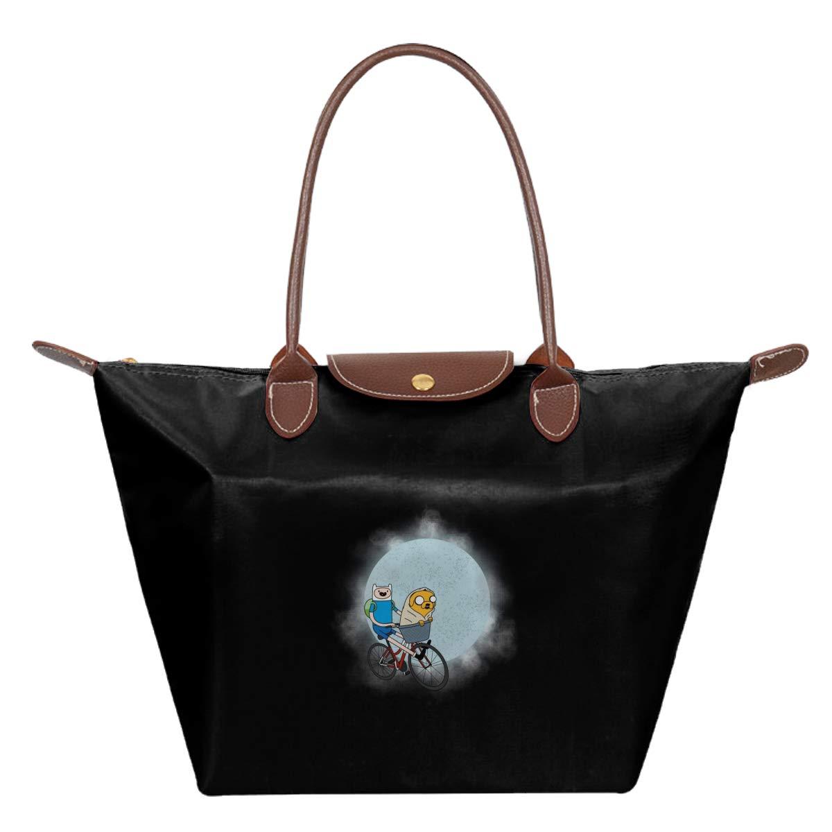 Adventure Time ET Mix Waterproof Leather Folded Messenger Nylon Bag Travel Tote Hopping Folding School Handbags