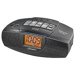 iHome Hampton Inn Alarm Clock FM Radio, Aux In Line, Nature Sounds, Sure Alarm Backup Battery (Certified Refurbished)