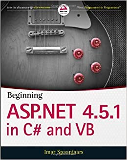 Book Beginning ASP.NET 4.5.1: in C# and VB (Wrox Programmer to Programmer) 1st by Spaanjaars, Imar (2014)