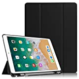 Fintie iPad Pro 10.5 Case with Built-in Apple Pencil Holder - [SlimShell] Ultra Lightweight Standing Protective Cover with Auto Wake / Sleep for Apple iPad Pro 10.5 Inch 2017 Tablet, Black