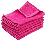 100 Piece- Hand Towels, 100% Cotton, Multipurpose Use for Hand, Face, Golf, Ideal for everyday use - Easy care machine wash (100, Hot Pink)