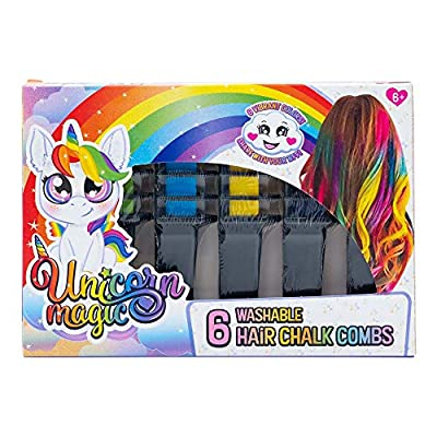 Unicorn Magic Hair Chalk Combs 6 Pack, Toy: Toys & Games