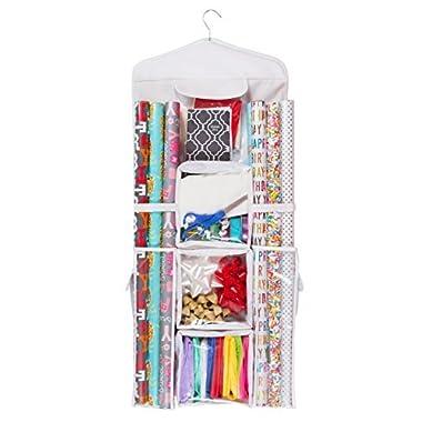 Double Sided Hanging Gift Wrap & Bag Organizer Storage