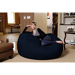 Chill Sack Bean Bag Chair: Huge 5' Memory Foam Furniture Bag and Large Lounger - Big Sofa with Soft Micro Fiber Cover - Navy
