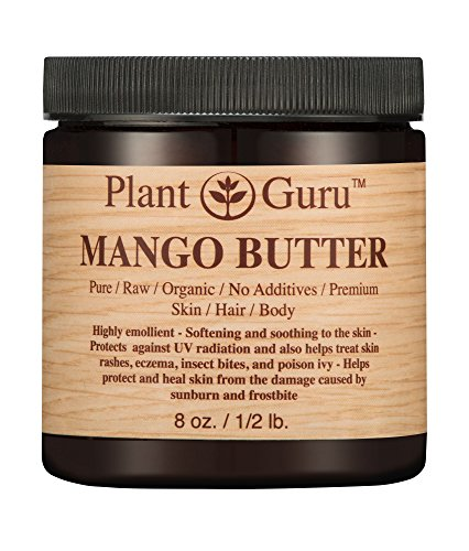 Mango Body Butter 8 oz. 100% Pure Raw Fresh Natural Cold Pressed. Skin Body and Hair Moisturizer, DIY Creams, Balms, Lotions,...