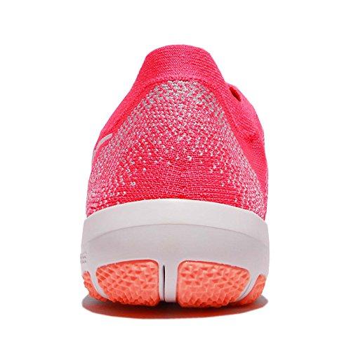 Nike Womens Free Focus Scarpe Da Ginnastica Flyknit 2 Taglia 9 M Rosa / Bianca