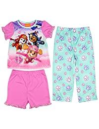 Paw Patrol Little Girls Toddler 3-Piece Pajama Set