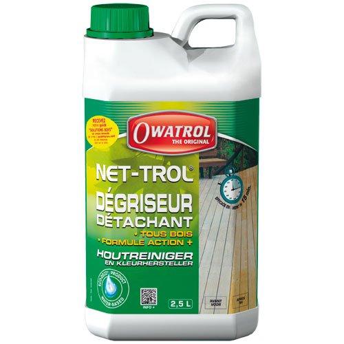 Owatrol 822 Net-Trol - Sgrassatore per legno 2, 5 L