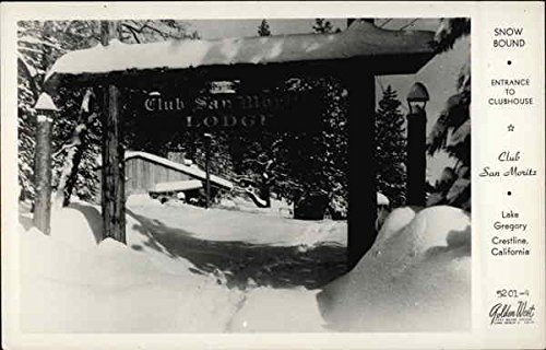 Club San Moritz, Lake Gregory - Entrance to Clubhouse Crestline, California Original Vintage ()