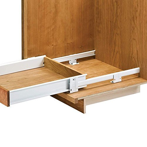 Shelves That Slide - 22'' Floor Mounted Slides Pantry Pull-Out (with Metal Sides)