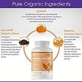 Organic Turmeric Curcumin BCM-95 Supplement + Black