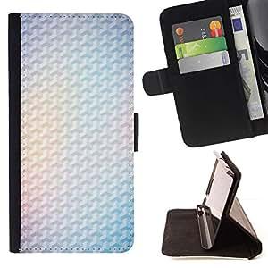 For Samsung Galaxy S6 EDGE (NOT S6) Case , Amarillo 3D Polígono blanca minimalista Limpio- la tarjeta de Crédito Slots PU Funda de cuero Monedero caso cubierta de piel