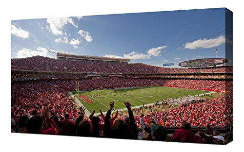 Lilarama USA Kansas City Chiefs Arrowhead Stadium - Canvas Art Print - Wall Art - Canvas Wrap (Arrowhead Stadium)