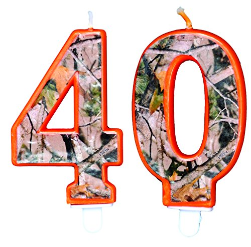 TheCamoHut Next Camo Birthday Number Candle (40)