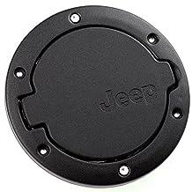 EVINIS Jeep Wrangler Black Gas Tank Cap Cover Door Fuel Filler Door fit for 2007 - 2016 Jeep Wrangler JK & Unlimited