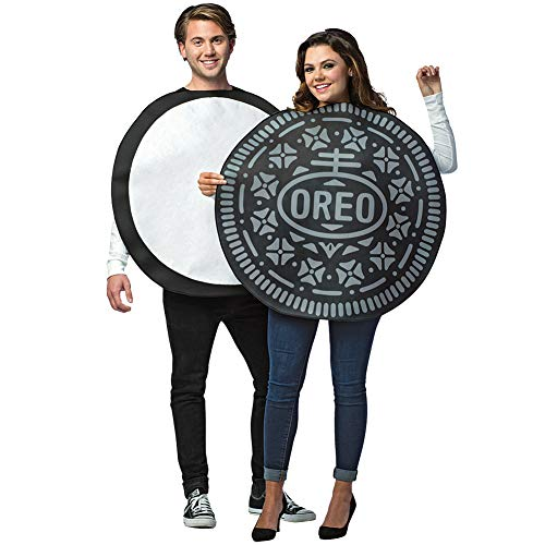 UHC Oreo Cookie Outfit Funny Theme Party Fancy Dress Halloween Couple Costume, OS]()