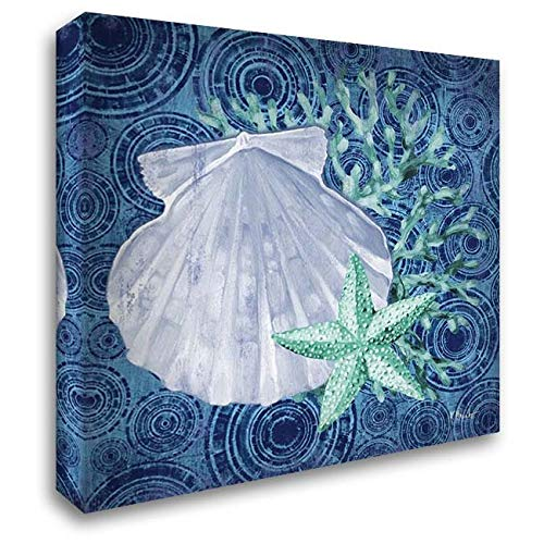 Silverplate Shell - Silverplate Shells I 32x32 Extra Large Gallery Wrapped Stretched Canvas Art by Brent, Paul