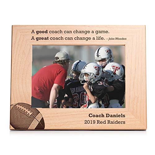 (Lifetime Creations Personalized Football Coach Picture Frame - Engraved Personalized Football Coach Frame Gift)