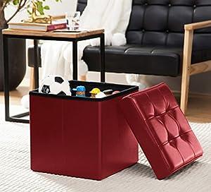Amazon Com Ellington Home Foldable Tufted Faux Leather