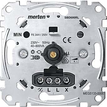 Merten MEG5133-0000 - Regulador giratorio para cargas inductivas, 40-600 W/VA
