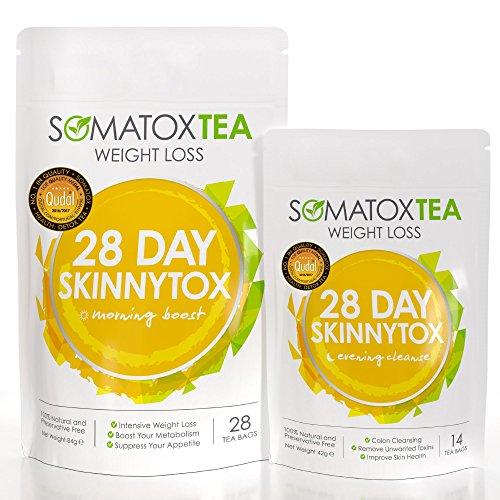 SOMATOX 28 DAY SKINNYTOX Weight Loss Tea - With Garcinia Cambogia • Premium Detox Slimming Tea • Teatox • Green Tea • Skinny Tea • Diet Herbal Tea • Burn Fat • Lose Weight ★ UK Product