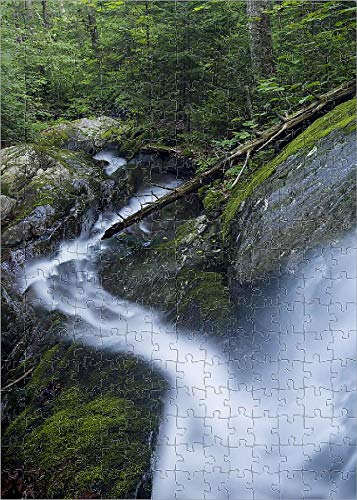 Media Storehouse 252 Piece Puzzle of Waterfall on Dowsville Brook in Duxbury, Vermont, USA (18245925)