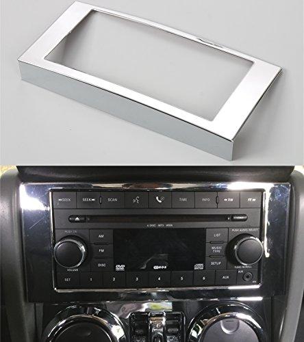 Opar Chrome Silver Center Radio Trim for 2007 - 2010 Jeep JK Wrangler & Unlimited