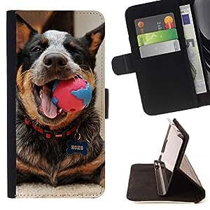 Momo Phone Case / Flip Funda de Cuero Case Cover - Ganado Jugar Feliz canina; - Samsung Galaxy A5 ( A5000 ) 2014 Version