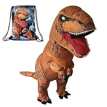 HEYMA T-Rex Costume Inflatable Dinosaur Suit Halloween Adult Inflatable Costume (Dinosaur B)