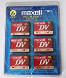 Maxell 298022 60 Minute Digital Mini Video Camcorder Tape - 6 Pack